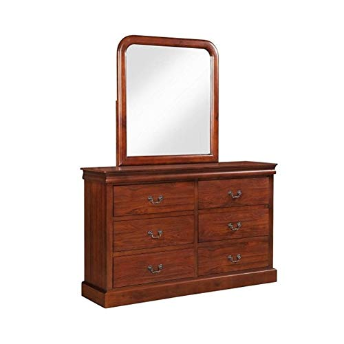 ZHIC Bedroom Furniture Set, Queen Size Bed, Dressing Table, Mirror, Bedside Table, Oak Decoration (Dresser Mirror) I Have a Better Life. (Color : Natural)