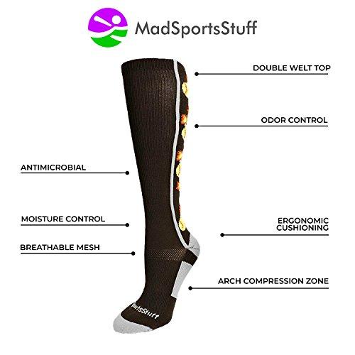 MadSportsStuff Softball Bomber Over the Calf Socks (Royal/White, Large by MadSportsStuff (Image #2)