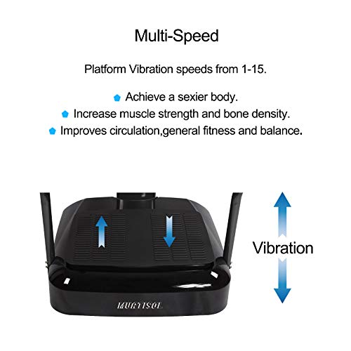 Murtisol Whole Body Vibration Platform Power Plate with Pulse Rate Grips,Resistance Bands,Multi-Speed by Murtisol (Image #6)