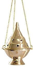 Accessories - Brass Burners Hanging Censer/Charcoal Incense Burner, 4.5\