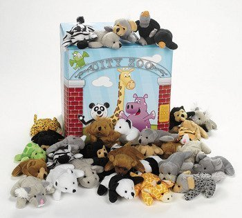 (Fun Express Plush Mini Bean Bag Zoo Animal Assortment)