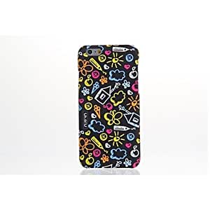 UMKU? Flower Pattern Plastic Hard Back Cover for iPhone 6