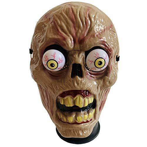 Scary Mask - Halloween Blood Eyeball Masquerade Masks - Latex Grimace Head Masks - Creepy Props Decorative Mask - Tricky Toys -