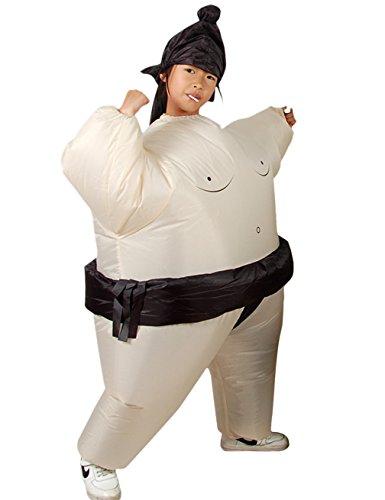 Gameyly Boys Inflatable Sumo Wrestler Kids Child Fancy Dress One Size (Child Sumo Wrestler Halloween Costume)