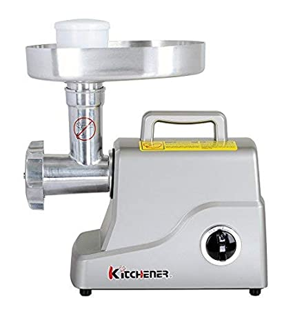 Renewed 3-Speed with Stainless Steel Cutting Blade 2 Stainless Steel Grinding Plates and Stainless Steel Stuffing Plate 500W Kitchener Heavy Duty Electric Meat Grinder 2//3 HP