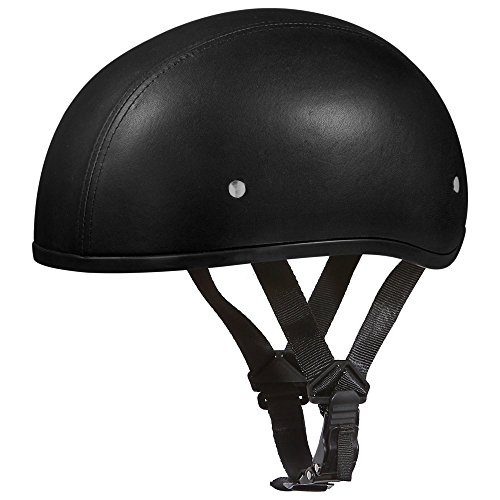 Leather Covered Motorcycle Helmet - 9