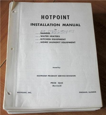 Hotpoint Installation Manual for Ranges, Water Heaters, Kitchen Equipment, Home (Hotpoint Manual Range)