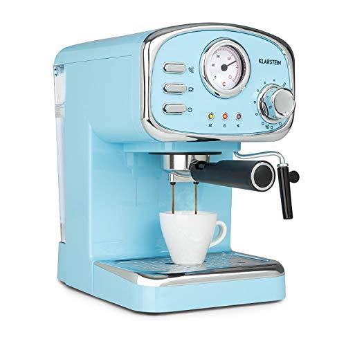 Klarstein Espressionata Gusto – Cafetera espresso, Rejilla acero inoxidable extraíble, EasyBrewing, Boquilla móvil para…
