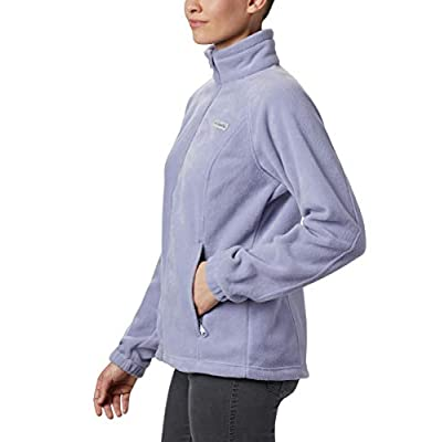 Columbia Women's Benton Springs Full Zip Jacket, Soft Fleece with Classic Fit, Dusty iris, X-Large: Clothing