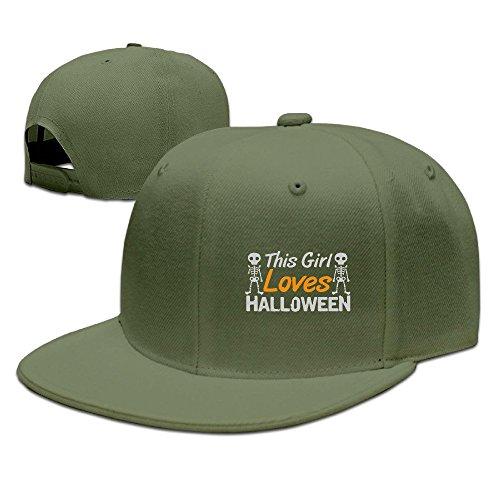 Runy Custom This Girl Loves Halloween Adjustable Baseball Hat & Cap (Halloween Costumes Indianapolis)