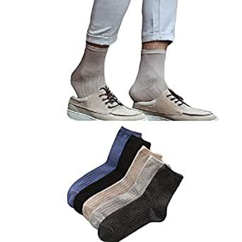 Mogogo Men's Outdoor Hiking/Trekking/Ski Light Back Cotton 10-Pack Socks 1 OS