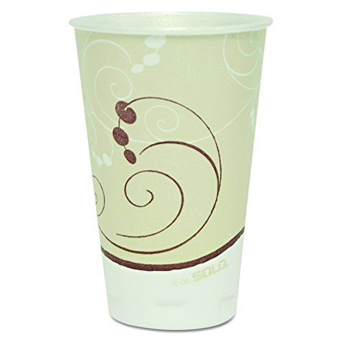 SOLO Cup Company X16NJ Symphony Trophy Plus Dual Temperature Cups, 16 oz , 15 Packs of 50 (Case of 750)