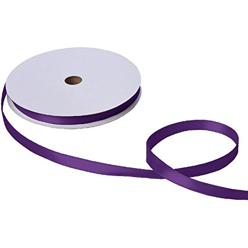 Jillson & Roberts Double-Faced Satin Ribbon, 5/8'' Wide x 100 Yards, Purple by Jillson Roberts
