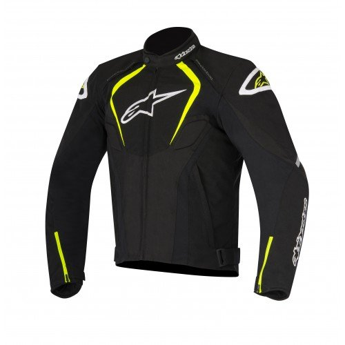 - Alpinestars T-Jaws Waterproof Men's Street Motorcycle Jackets - Black/White/Yellow/Medium