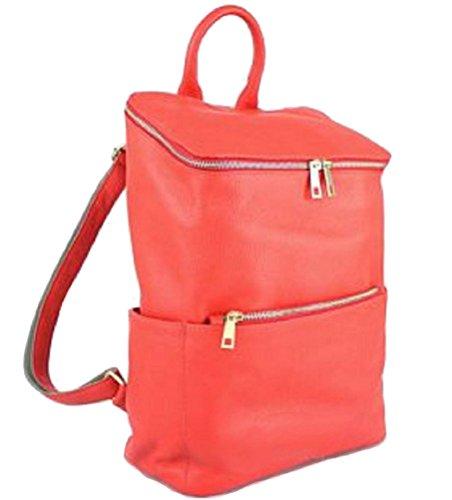 Bottega Carele - Bolso mochila  de Piel para mujer Rojo