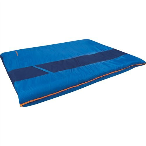 Eureka! Sandstone 30 Degree Rectangular Sleeping Bag; Warm, Comfortable, Lightweight Three-Season, Thermally Efficient Bag for Car and Tent Camping – Double – Blue (Eureka Fiber Sleeping Bag)