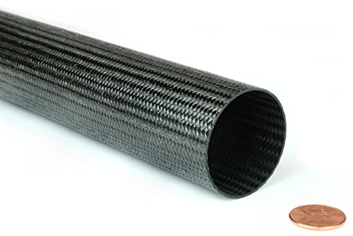 Braided Carbon Fiber Round Tubing - 1.5'' Inside Diameter x 48'' by DragonPlate