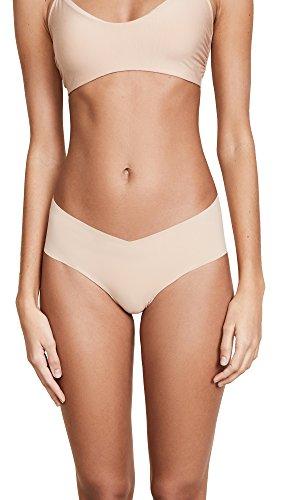 Shirley Spandex Bikini - commando Women's Solid Girl Short GS01, True Nude, LG/XL