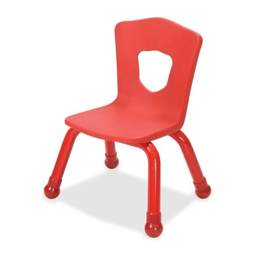 Balt Kids Chair with Steel Frame, 15-1/2-Inch, Red -
