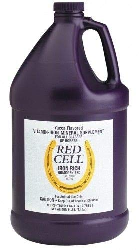 RED CELL Yucca Flavored Iron Mineral Rich Supplement (1 Gallon) for Horses