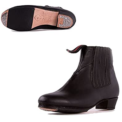 Miguelito Men's Mexican Folklorico Dance Ankle Boots, Black, 23 Mex/5 US