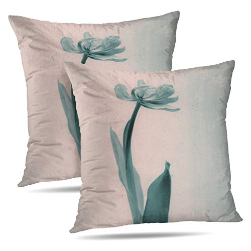 Set of 2 Darkchocl Decorative Throw Pillow Covers Tulip for sale  Delivered anywhere in Canada