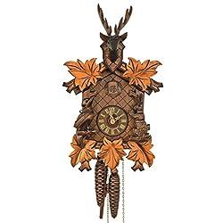 Cuckoo Clock 5-leaves, head of a deer