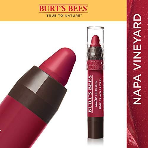 Burt's Bees 100% Natural Moisturizing Matte Lip Crayon, Napa Vineyard - 1 Crayon