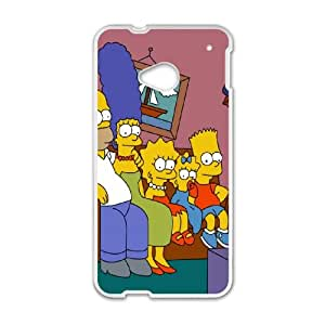 The Simpsons HTC One M7 Cell Phone Case White Rwaua