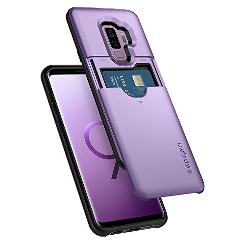 Spigen Slim Armor CS Galaxy S9 Plus Case with Slim Dual Layer Wallet Design and Card Slot Holder for Samsung Galaxy S9 Plus (2018) - Lilac Purple - Lilac Card