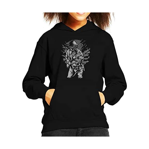 Steampunk Style Soldier Kid's Hooded Sweatshirt 3