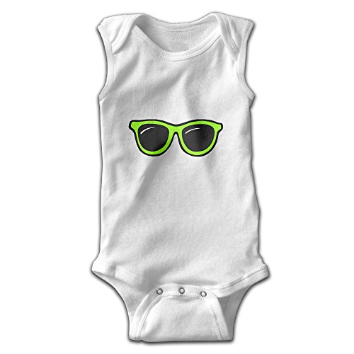 ROSE MAGEE Green Sunglasses Unisex Baby Sleeveless Nice Infant Bodysuit Rompers Climbing Clothes Playsuit Outfits Clothes - Ar Jonesboro Glass