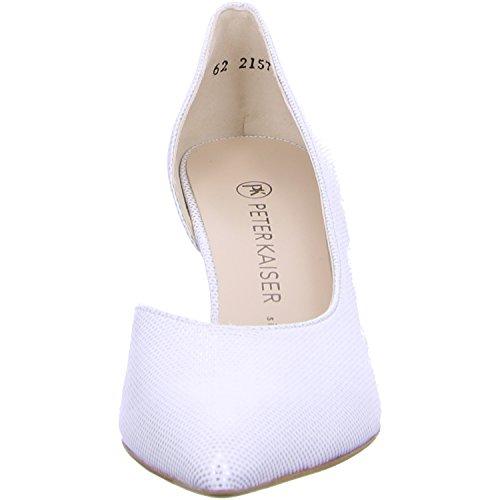 55773 Caete Peter Kaiser Low Heel Court Shoe White