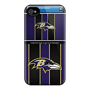 Protector Hard Cell-phone Case For Iphone 4/4s (plu8990bQeN) Customized Stylish Baltimore Ravens Series