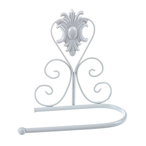 - Bazzano European Style Iron Toilet Roll Paper Holder Wall Mount Rack (white) Y9B6
