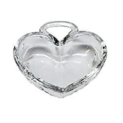 FIFTH AVENUE HEAVY CRYSTAL HEART SHAPE CANDY DISH/RING HOLDER