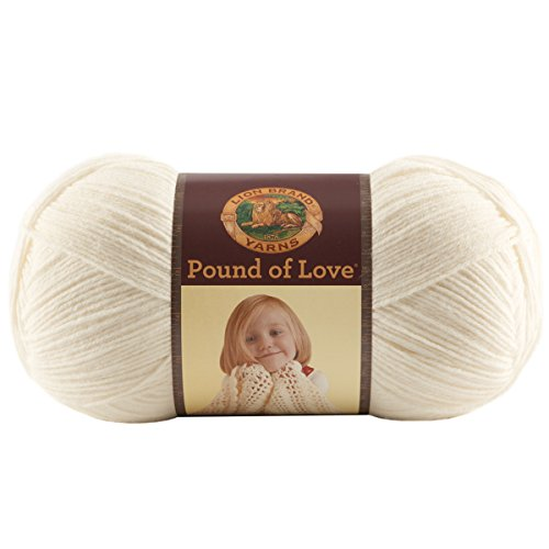 Lion Brand Yarn 550-099B Pound of Love Yarn, Antique White (Blanket Antique Wool)