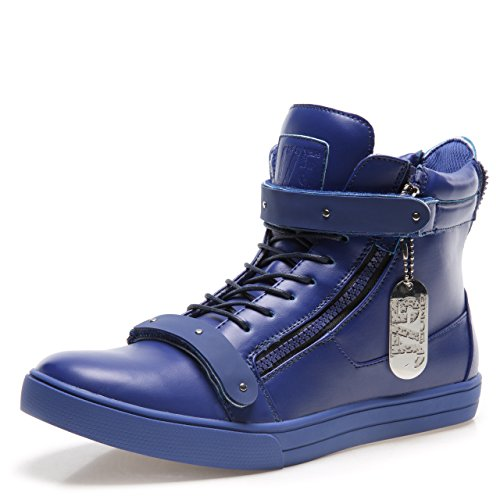 J75 by Jump Men's Zion High-Top Fashion Sneaker Blue 9.5 D US by Jump