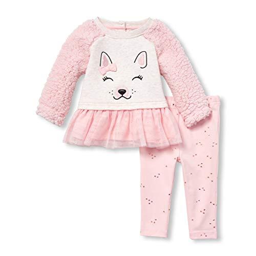 - The Children's Place Baby Girls Animal Theme Legging Set, Rosewater, 12-18MOS