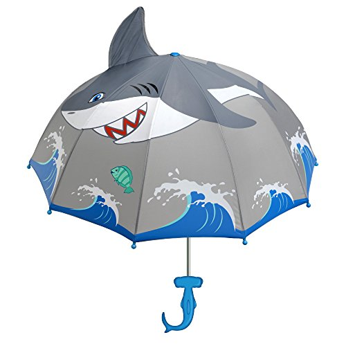 Kidorable Boys' Little Shark Umbrella, Gray, One Size