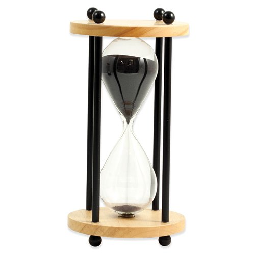 Walnut or Natural Wood Ten Minute Sand Timer Home Garden Living Gifts