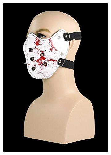 [Men's Spiked Mask (White)] (The Gimp Costume)