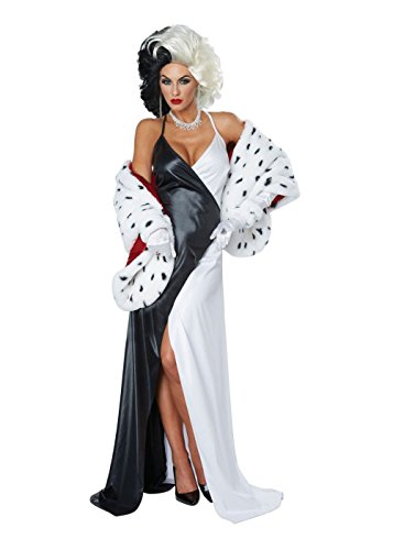 Cruel Diva Adult Womens Costumes (Cruel Dalmatian Diva Women Costume and Wig)