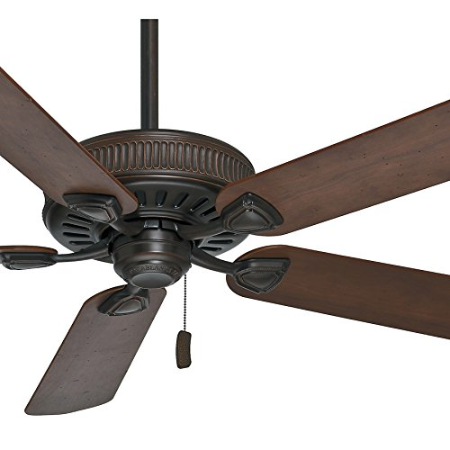 Casablanca Fan 54 inch Brushed Cocoa Ceiling Fan with 5 Reversible Blades Renewed