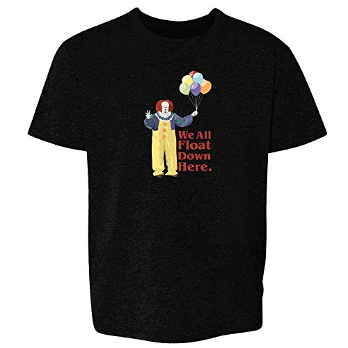 Pop Threads Clown Float Down Here Minimalist Black 5 Toddler Kids T-Shirt -