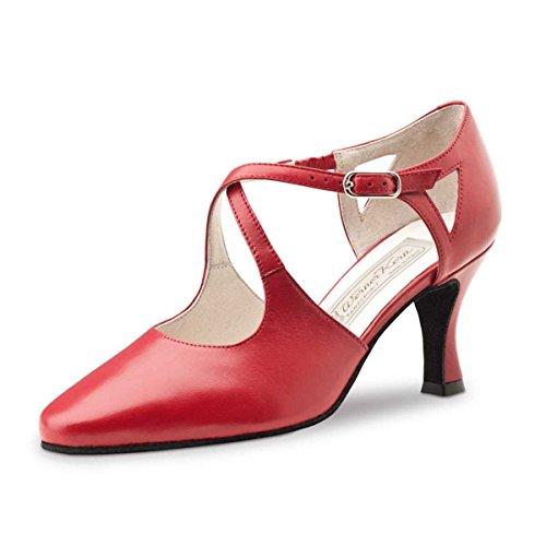 Werner Kern–Zapatos de baile para mujer Ines 6,5piel rojo