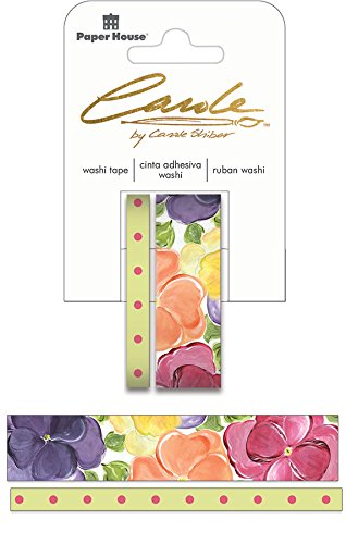 Paper House Productions Washi Tape, Pansies, 2-Pack, None, 2 Piece