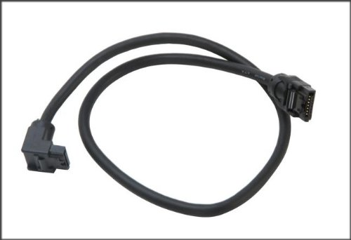 OKGear 18 inch SATA 3.0 cable, Right Angle to Straight with Latch