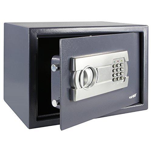HMF 4612212 Cassaforte Mobile, Tresoro con Serratura elettronica 35 x 25 x 25 cm , antracite