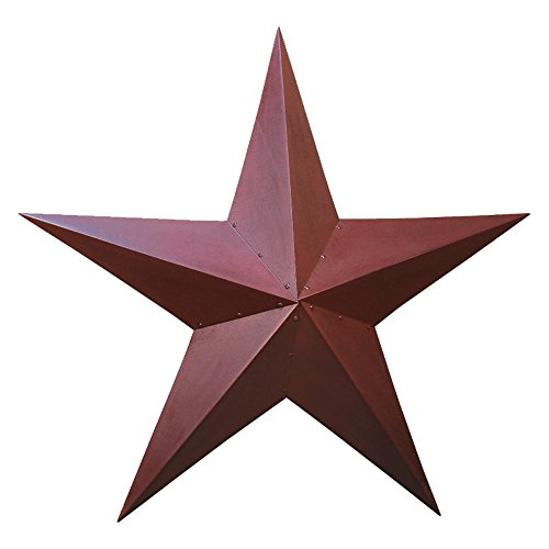 Rustic Star Decor (36 Inch Burgundy Star)